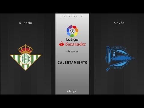 Calentamiento R. Betis vs Alavés