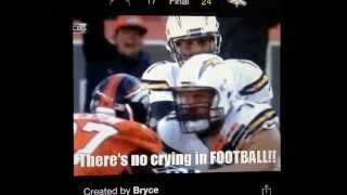 Phillip Rivers Throwing A Temper Tantrum In Denver!!