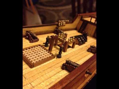Building the wooden model ship the Albatros