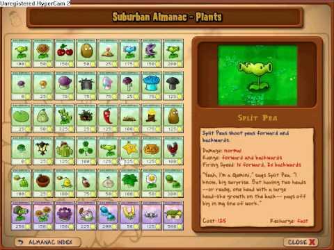 Plants Vs. Zombies - All Plants