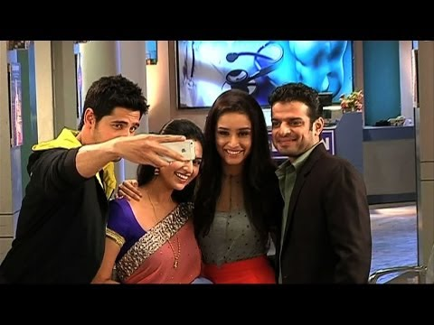 Ek Villain's cast on the sets of Yeh Hai Mohabbatein