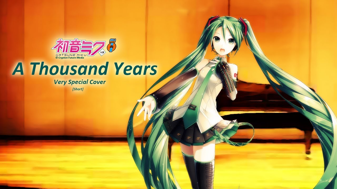 Hatsune Miku English V3 - A Thousand Years [MJQ Special ...