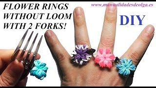 How To Make A Flower Ring (EASY) With 2 Forks. Without