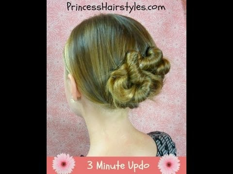 3 Minute Updo!  Easy Twist Hairstyle