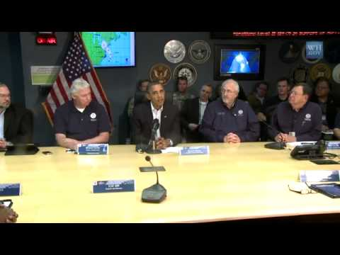 SANDY...President Obama Speaks on Hurricane Sandy with FEMA