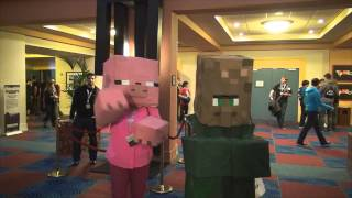Minecon Notch Cosplays E Vacas Cogumelo XD #Minecon2012