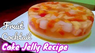 Fruit Cake Jelly   Fruit Cocktail Cake Jelly Recipe