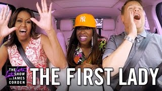 First Lady Michelle Obama Carpool Karaoke With James Corden