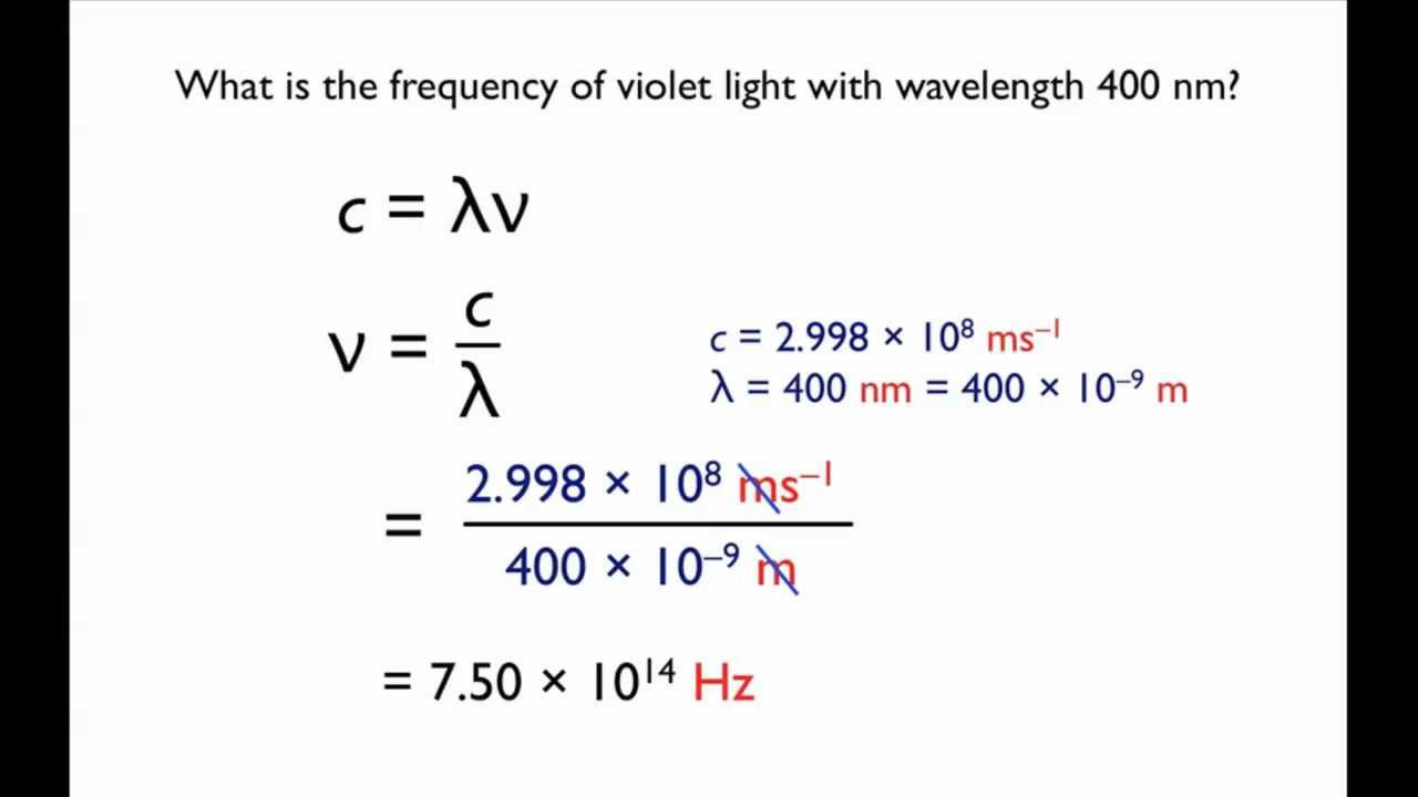 Relationship between wavelength and frequency - YouTube