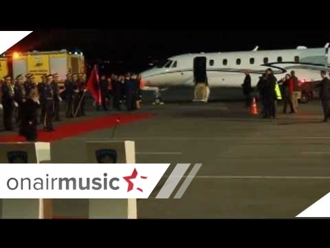 EXCLUSIVE RAMUSH HARADINAJ ARRIVES IN KOSOVO AIRPORT