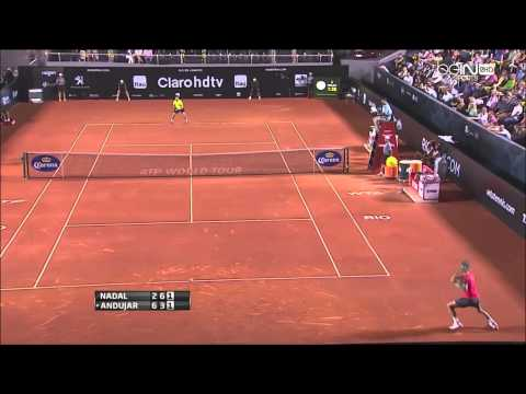 Rafael Nadal x Pablo Andujar Rio Open 2014 (SF) - Highlights - HD
