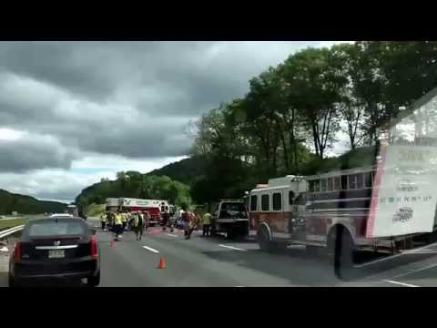 Thruway reopens after shutdown due to truck accident