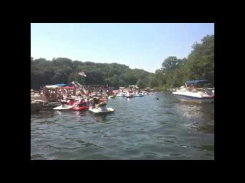 Lake Wallenpaupack On 4th Of July Filmed From My Boat
