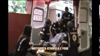 Motorista foge ap�s atropelar mulher que fazia caminhada no Bairro Belvedere