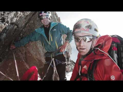 Hervé Barmasse, Iker and Eneko Pou open a new route on the Mont Blanc