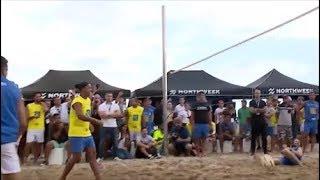 شاهد رونالدينهو يظهر مهارات رائعة في الكرة الطائرة       قنوات أخرى