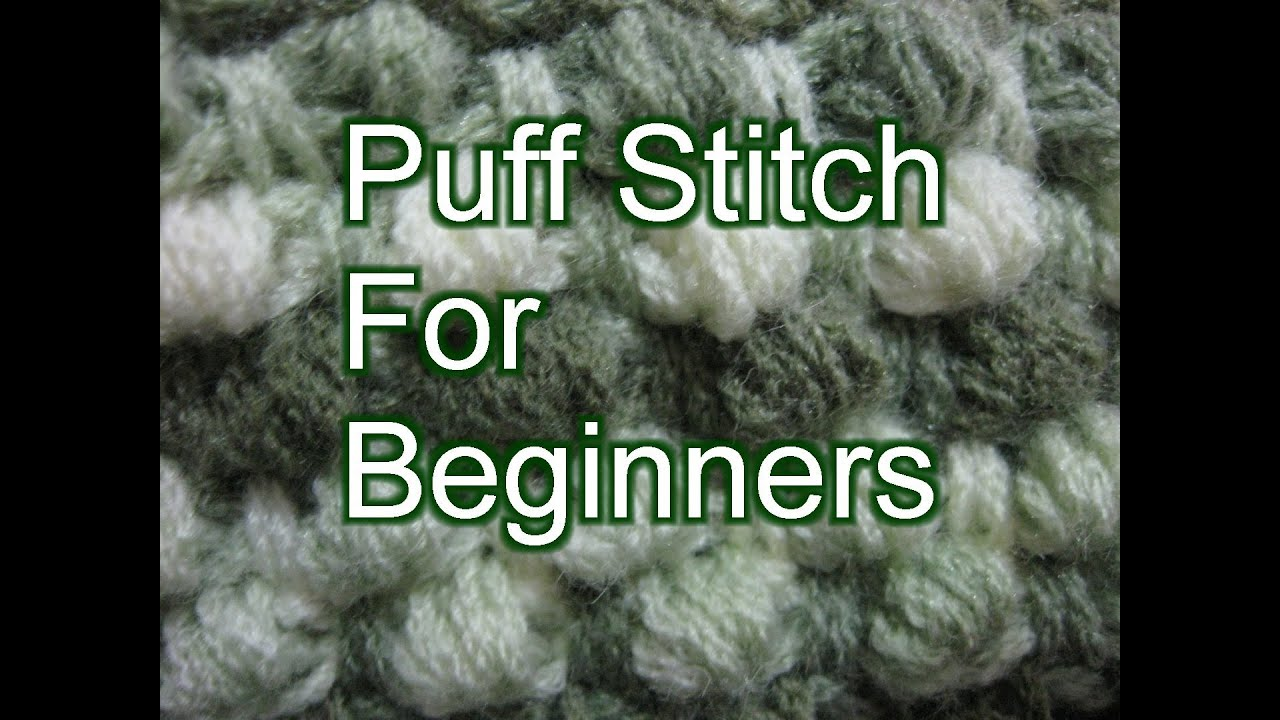 Crochet Puff Stitch - Slow Motion Crochet - YouTube