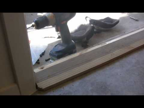 replacing a threshold and door bottom youtube