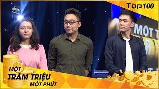 Full Một Trăm Triệu Một Phút Tập 100 l Thành Khôn - Ngọc Nguyễn - Gino Tống - MC Trấn Thành l VTV3