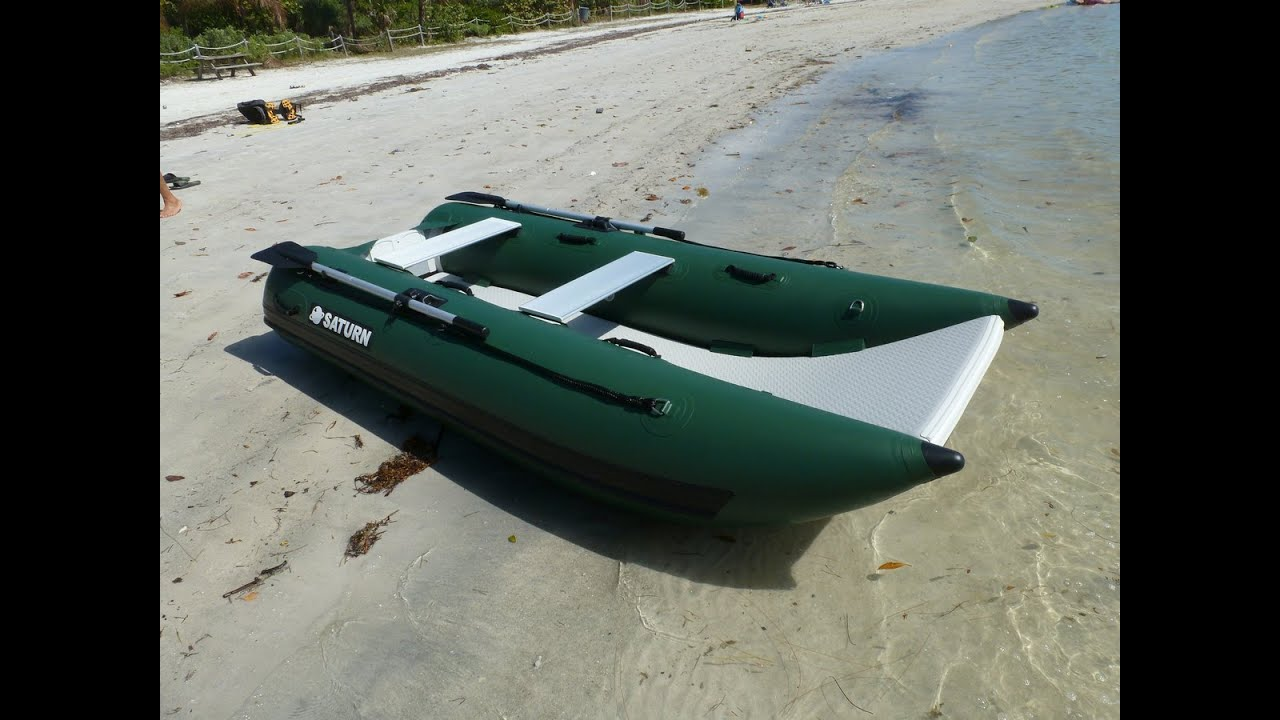nano catamaran nc290 small portable fishing boat youtube