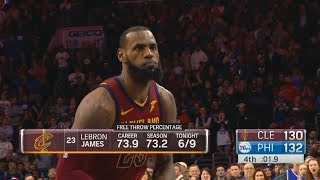 LeBron James Misses Free Throws and Chokes in Cavaliers Loss to Sixers! Cavaliers vs Sixers