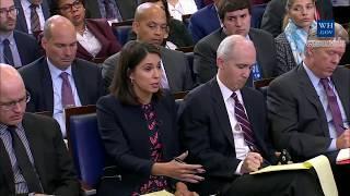 Sarah 'Huckabee' Sanders Press Briefing on Trump's Call to widow of fallen soldier frederica wilson