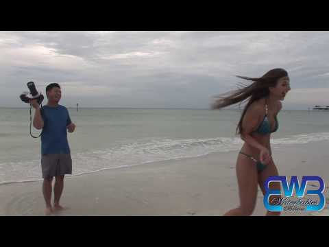 Waterbabies Bikinis Models on the Beach