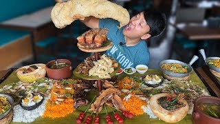 MASSIVE Filipino FOOD BATTLE! Over 50 DISHES! Boodle Fight!
