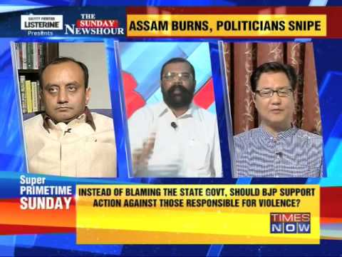 The Newshour Debate: Assam burns, politicians snipe - Part 3 (4th May 2014)