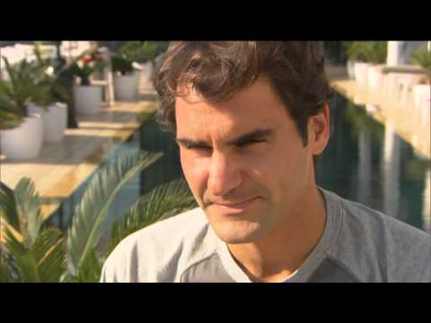 Dubai 2014 Preview Interview Federer