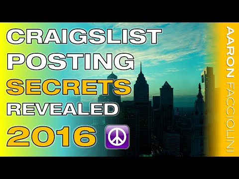 The Best FREE Craigslist Training EVER - How to Post on Craigslist 2014