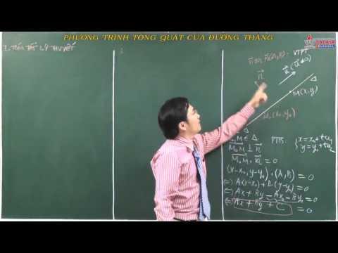 Hình học 10 - Chương 3 - Phương trình tổng quát của đường thẳng