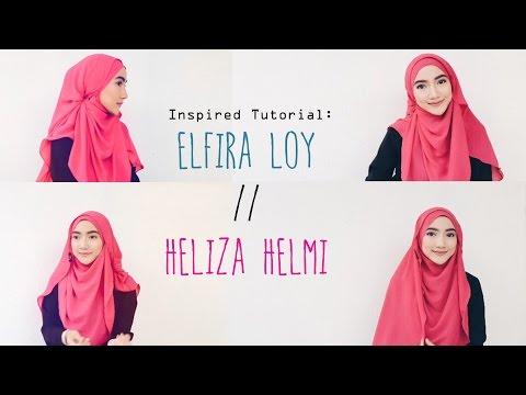 Trendy Hijab Tutorial 2016: ElfiraLoy//Heliza Helmi