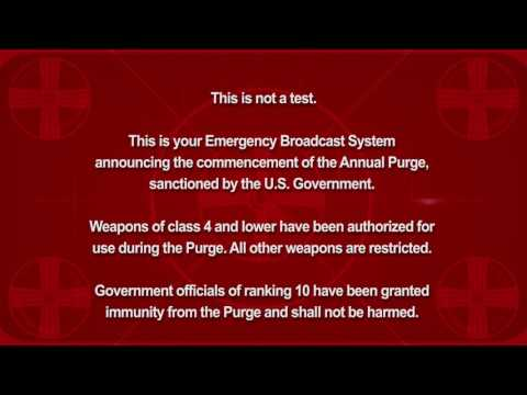 The Purge - Election Year Announcement HD [sans spoiler]