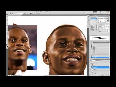 Grayscale to Color Photoshop Tutorial (Victor Cruz Painting: Part 3)