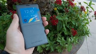 Samsung Galaxy Note 4 S View Flip Cover Review!