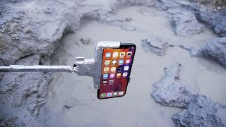 What Happens If You Dip an iPhone X in Boiling MudPot?