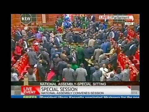 فوضى وعراك بالأيدي في البرلمان بسبب مشروع قانون