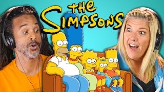 ADULTS REACT TO THE SIMPSONS (30th Anniversary)
