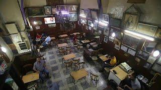 مقهى النوفرة التاريخي في دمشق يعيد افتتاح