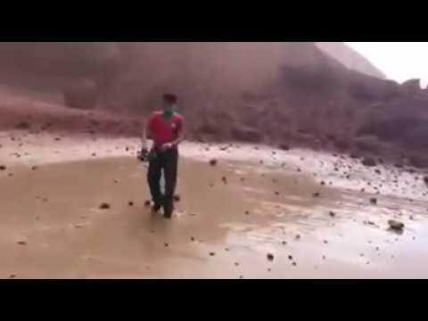 فيديو لحظة انهيار قوس الكزيرة العالمي بإقليم سيدي إفني.