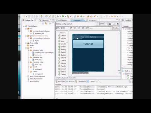 Android Tutorial & Lessons 4: More XML and reference background