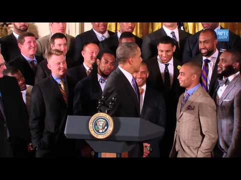 Super Bowl Champion Seattle Seahawks Vist The White House