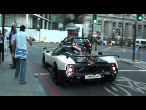 Pagani Zonda Cinque Roadster DRIFTING IN STREETS OF LONDON!