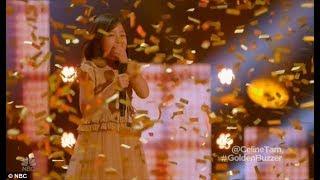[Eng-Vietsub]  Nút vàng của khách mời cho cô bé 9 tuổi Celine Tam - truyền nhân của Celine Dion: AGT