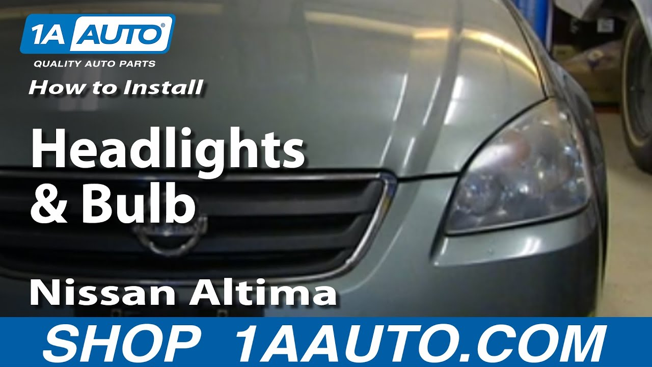 How To Install Remove Change Headlights And Bulb 2002 06 Nissan Altima Youtube