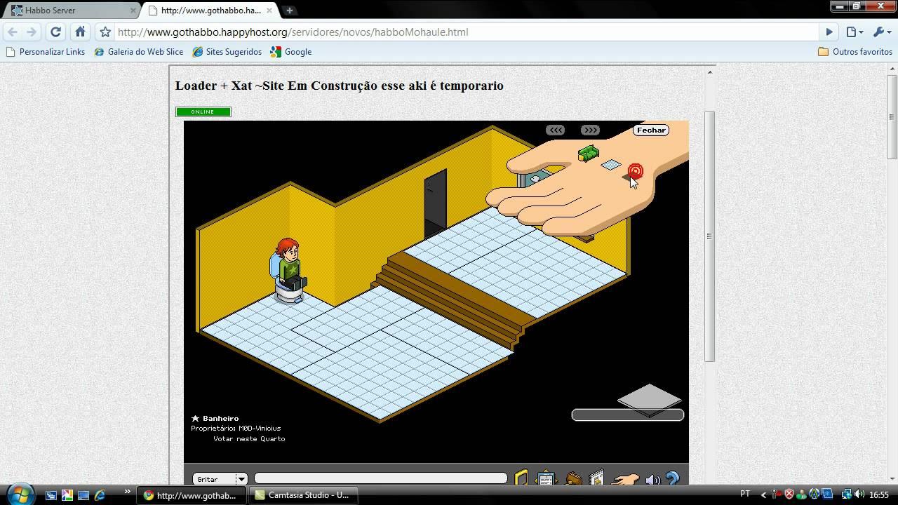 COMO FAZER UM BANHEIRO = WWWHABBOMOLAHUEVAILA  YouTube -> Como Fazer Um Banheiro Moderno Habbo