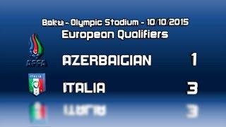 Highlights: Azerbajgian-Italia 1-3 (10 ottobre 2015)