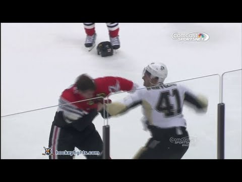 Robert Bortuzzo vs Sheldon Brookbank Sep 19, 2013