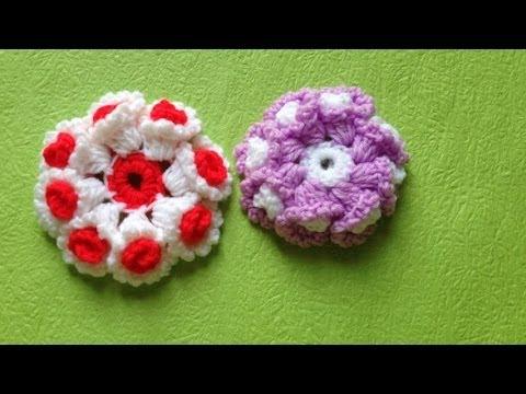 Dạy móc hoa cúc bằng len